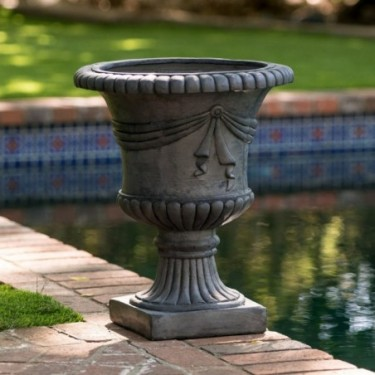 Ferrara Antique Grey Stone Planter