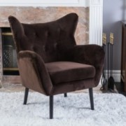 Danielle Brown Velvet Arm Chair