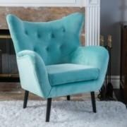 Danielle Green Velvet Arm Chair
