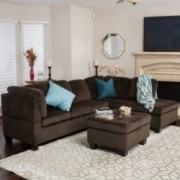 Welsh Chocolate Fabric Sectional Set