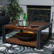 Belmont Dark Oak Wood Coffee Table