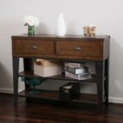 Freya Dark Oak Ash Veener Console Table