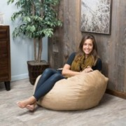 Harbor 3 Foot Faux Suede Tuscany Bean Bag