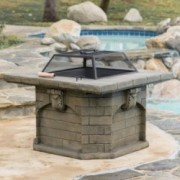 Craig Outdoor Natural Stone Fire Pit