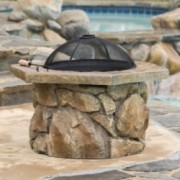 Encino Outdoor Natural Stone Fire Pit