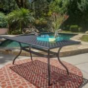 Taylor Black Sand Cast Aluminum Rectangle Table