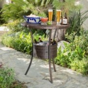 Tampa Bay Multi Brown PE Table with Ice Pail