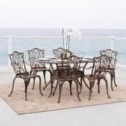 Jameson Home Haitian Outdoor Cast Aluminum Oval Dining Table