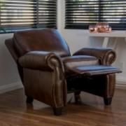 Denise Austin Home Jasmine PU Leather Recliner Club Chair