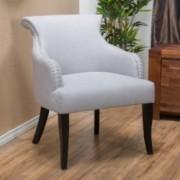 Thome Light Grey Fabric Arm Chair