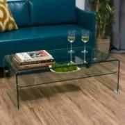 Classon Glass Rectangle Coffee Table w/ Shelf