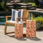 Utica Antique Style Orange Accent Table (Set of 2)