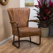 Hudson Top Grain Vintage Brown Leather Arm Chair