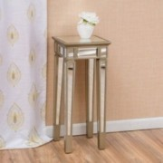 Vaughn Silver Vintage Mirror End Table