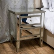 Graham Mirror Two-Drawer End Table Nightstand