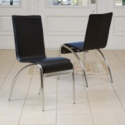Enola Black Modern Chairs (Set of 2)