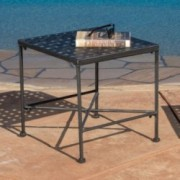 Kent Outdoor Black Iron Side Table