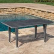 Aina Grey Wicker Outdoor Patio Table
