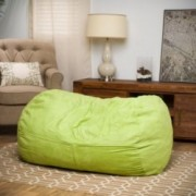 Cassell Green Fabric 4-foot Lounge Beanbag Chair