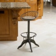 The Aero Industrial Design Steel Bar Stool