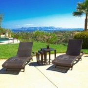 Lakeport 5p Outdoor Adjustable Chaise Lounge Set