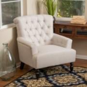 Harvey Beige Fabric Club Chair