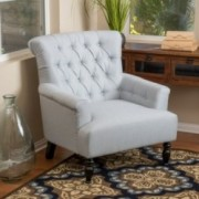 Harvey Light Grey Fabric Club Chair
