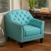Ladera Teal Fabric Club Chair