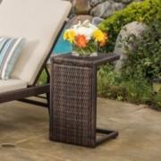 Denise Austin Forrest Outdoor Wicker Side Table