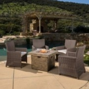 Napoule 5pc Outdoor Fire Pit Chat Set II