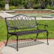 Velda Outdoor Cast Aluminum Bench