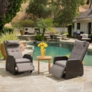 Rana Brown Outdoor Recliner with Cushion (set of 2)