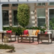 Cyrano Outdoor 4-piece Aluminum Chat Set with Cushions