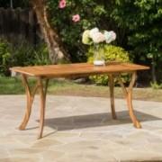 Hestia Teak Finish Acacia Wood Rectangular Dining Table