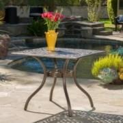 Monteria Bronze Cast Aluminum Square Table