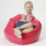 Taylor Hot Pink Vinyl Kids Bean Bag