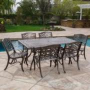 Monteria Bronze Cast Aluminum Rectangle Table