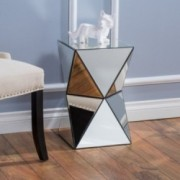Aedon Mirrored Side Table