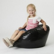 Taylor Black Vinyl Kids Bean Bag