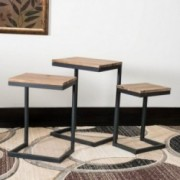 Kacha Firwood Antique Nesting Tables