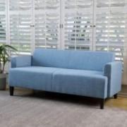 MidCent Three-Seat Fabric Sofa