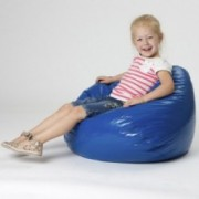 Taylor Royal Blue Vinyl Kids Bean Bag
