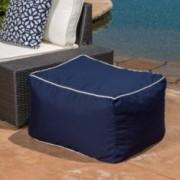 Kinyon Outdoor Canvas Navy Solution Dyed Acrylic Bean Bag