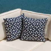 Iwarol Luxe Indigo Dyed Acrylic 18 x 18 Pillow (Set of 2)