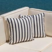 Klarana Lido Indigo Pattern Dyed Acrylic 18 x 18 Pillow (Set of 2)