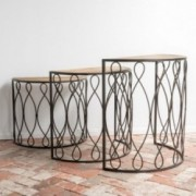 Sewelinar 3pc Console Table Set