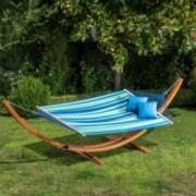 Pirav Blue Green White Stripe Hammock