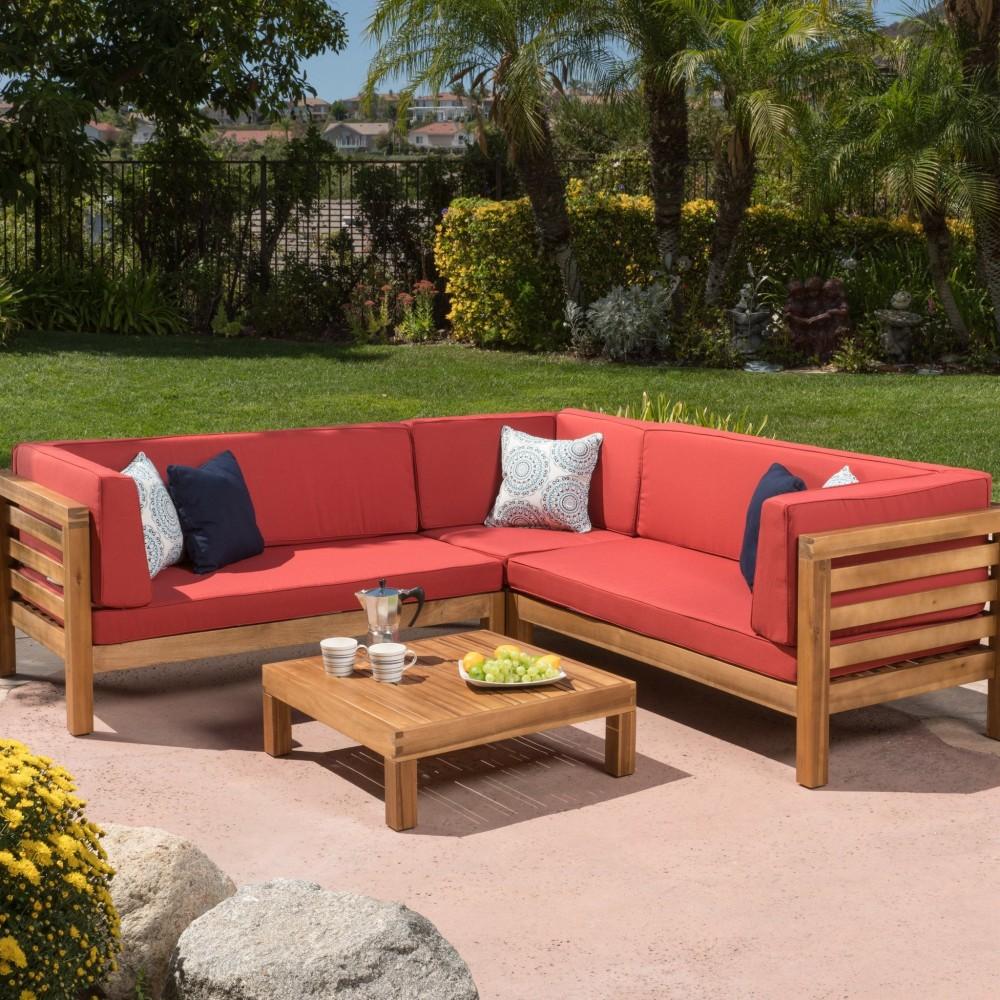 Ravello 4pc Outdoor Sectional Sofa Set