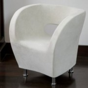 Salazar Ivory Modern Design Accent Chair