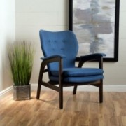 Bhelenar French-Style Fabric Arm Chair